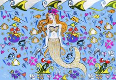 """PRINCESS ARTAGATIS OF WAKATOBI""  Beautiful Silk Sarong for Wakatobi Diver Resort."