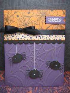 spiders halloween card