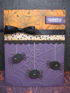 spiders halloween card