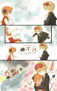 Kagura okita >>>>Lets talk about the GIANT snowball Kamuii had prepared to kill Sougo because he was too close with his little sis  so cute