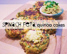 Spinach Feta Quinoa Cakes Recipe