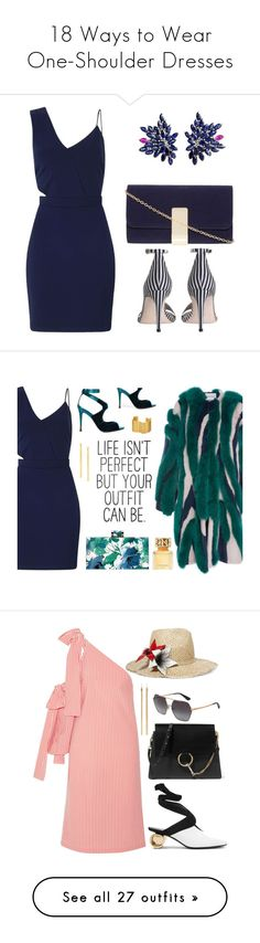 """""""18 Ways to Wear One-Shoulder Dresses"""" by polyvore-editorial ❤ liked on Polyvore featuring OneShoulderDress, waystowear, Miss Selfridge, Dorothy Perkins, Zimmermann, Joana Salazar, Prabal Gurung, Tom Ford, Stella & Dot and Lana"""
