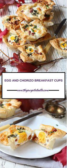 EGG AND CHORIZO BREAKFAST CUPS - The Purple Ladle