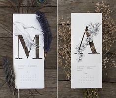 Delicate 2015 Illustrated Calendar