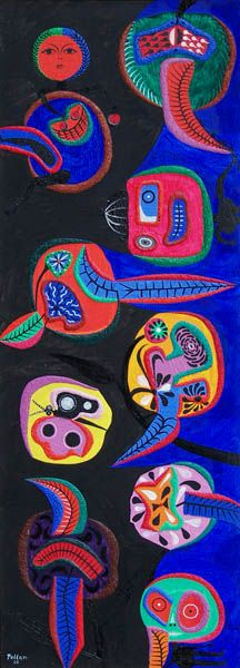 'Bambins au Jardin' by Alfred Pellan at Mayberry Fine Art