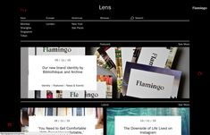 Brand Identity and website for Flamingo by Bibliotheque, United Kingdom