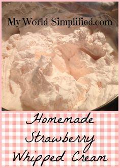Homemade Strawberry Whipped Cream