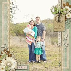 family scrapbooking page