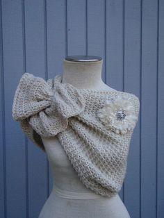 A personal favorite from my Etsy shop https://www.etsy.com/listing/169218718/bridal-shawl-wedding-shawl-bridal