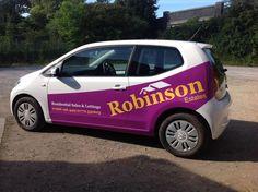 Car signage for Robinsons Estates