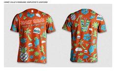 Jimmy Hula's Rebranding on Behance - t-shirt uniform design