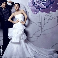 Unique White Couture Modern Mermaid Destination Wedding Dresses Gowns 2012 SKU-118199