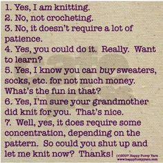 Knitting humor
