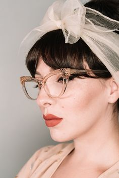 Our collaboration with blogger, Keiko Lynn. Clear champagne inspired colour, that we call Blond. Cateye glasses, named after herself; KEIKO