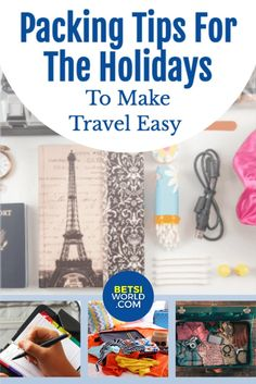 Holiday travel is a time when packing tips certainly come in handy! Packing tips for easy holiday traveling. #travel #holidays #packingtips #traveltips #holidaytravel Packing Tips For Vacation, Suitcase Packing Tips, Travel Tips, Road Trip Packing, Vacation Ideas, Travel Destinations, Holiday Travel, Group Travel, Family Travel