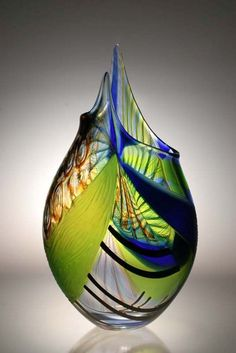 Art-Glass Vessel by Ron Beck Designs - Amazing! Murano Glass, Fused Glass, Venetian Glass, Art Of Glass, Blown Glass Art, Glass Vessel, Glass Ceramic, Vidro Carnival, Vase Deco