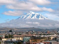 Riobamba, Ecuador.  Went here in 2004 for a mission trip.  AMAZINGLY beautiful.