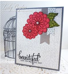 Handmade card by Lesley Croghan using the Beautiful Plain Jane and Brighter Days stamp set from Verve.  #vervestamps