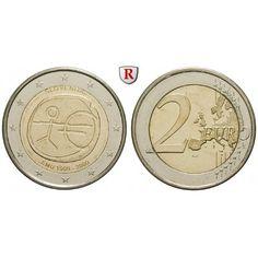 Slowenien, 2 Euro 2009, bfr.: 2 Euro 2009. 10 Jahre Währungsunion. bankfrisch 5,00€ #coins