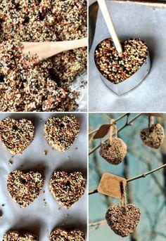 vogelvoer-maken-met-koekjes-uitsnijder. Activiteit voor Ayton, Dani en Lyano