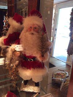 """St. Nick"" one of Elaine Roesle's exquisite handmade Santas.  Ohio. www.historicalchristmasbarn.com"