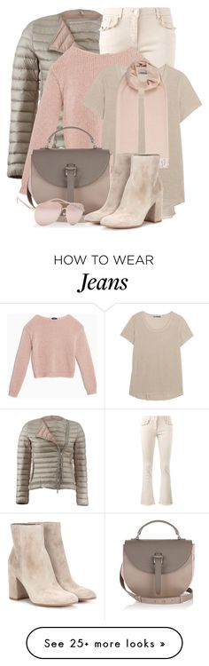 """""""Puffer Jacket & Frayed Hem Jeans"""" by brendariley-1 on Polyvore featuring Moncler, Etro, Max&Co., Vince, Weekend Max Mara, Full Tilt and Gianvito Rossi"""