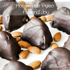 Homemade Paleo Almond Joys.