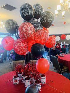 13th Birthday Parties, 10th Birthday, Birthday Party Themes, Birthday Ideas, Youtube Theme, Youtube Party, Youtube Birthday, Party Ideas, Events
