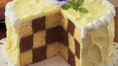 Chocolate Checkerboard Cake