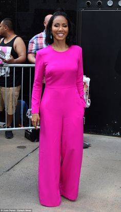 Not ashamed: Jada Pinkett Smith was all smiles at Good Morning America, the day after she...