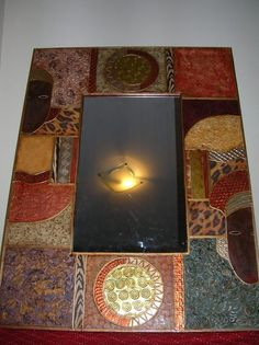 Mosaic Crafts, Mosaic Projects, Empty Frames, Mirror Art, Diy Painting, Decoration, Decoupage, Picture Frames, Home Decor