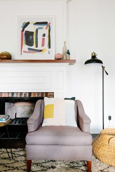 pops of bright color can give added interest to a neutral interior case in point