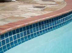 colors for pool tiles with brick coping - Google Search