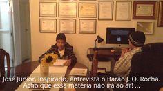 O Barão J. O. Rocha sendo entrevistado.