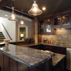 great ceiling over bar area. Also, we love the backsplash.