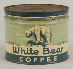 White Bear Coffee tin - vintage