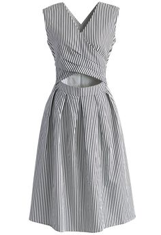 Sassy in a Wrap Striped Dress - New Arrivals - Retro, Indie and Unique Fashion