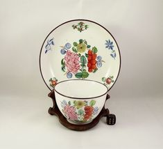 Antique 19thC English Porcelain Tea Bowl & Saucer circa 1805