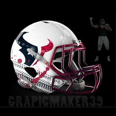 The NFL is always looking for ways to evolve and create a new and exciting look for their teams while also maintaining the heritage of these storie. College Football Helmets, Nfl Football Helmets, Texans Football, Electric Football, 32 Nfl Teams, Professional Football Teams, Helmet Logo, Jj Watt, Helmet Design