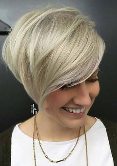 Fresh ideas of angled short bob haircuts with side bangs and fringes in 2018. We've rounded up these beautiful and trendy bob cuts for fashionable ladies to flatter on in these days. See here and get the sensational ideas of modern short bob cuts for women of different age groups in 2018.