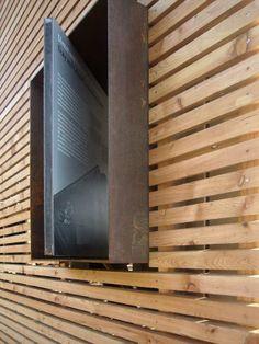 14 Examples of Backyard Pergolas That Cure Analysis-Paralysis Rainscreen Cladding, Timber Cladding, Aluminium Windows And Doors, External Cladding, Timber Screens, Container Shop, Desert Homes, Wayfinding Signage, Backyard Pergola