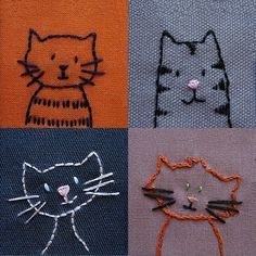 happy shiny world cat quilt | Each of these little kitties has loads of personality and takes less ..