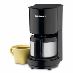 Cuisinart Black 4-Cup Coffeemaker with Stainless Steel Carafe