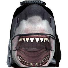 Lekebaby Student Backpack Felt Bags Shark Size L Black