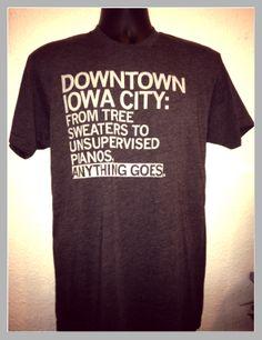 Iowa City T-Shirt made by Raygun.