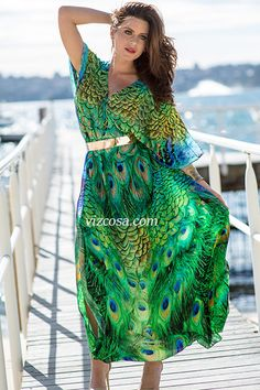 AMALFI long kaftan at Vizcosa.com