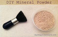Home Made powder make-up - interesting with less than all of the chemicals we use on our face