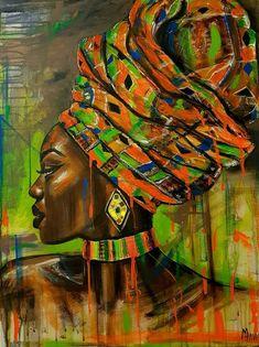 Original People Painting by Alina Manukyan African Drawings, African Artwork, African Art Paintings, African American Artwork, Africa Painting, Africa Art, Black Girl Art, Black Women Art, African Colors