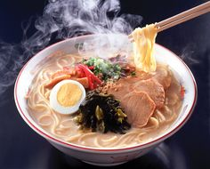In America, ramen is a 10 cent package used to keep college students from starving. In Japan, ramen is an art - something to be mastered. It is taken very seriously, and every bowl is arranged to perfection.