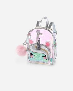 Justice is your one-stop-shop for on-trend styles in tween girls clothing & accessories. Shop our Unicorn Clear Mini Backpack. Clear Backpacks, Cute Mini Backpacks, Justice Bags, Justice Store, Pusheen Plush, Cute Suitcases, Hello Kitty Purse, Backpack For Teens, Small Backpack